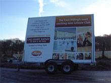Advert trailer for sales from Blendworth Trailer Centre in Hampshire