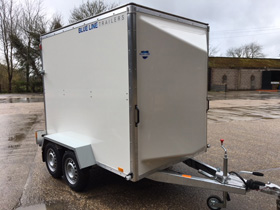 Blue Line boxvan trailers for sale from Blendworth Trailer Centre, Portsmouth UK