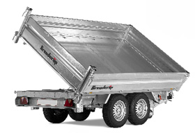 Brenderup 3 sided tipper trailer