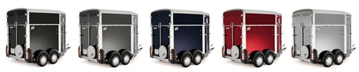 Colour range of Ifor Williams horse trailers