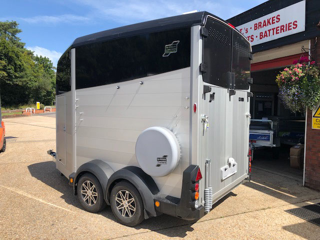 Ifor Williams black HBX511 horse trailer