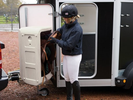 Ifor Williams HBX horse trailer door mounted tack pack