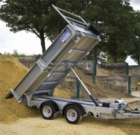 Ifor Williams power tipper trailers