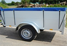 Lockable lid trailers, camping trailers