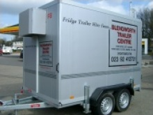 Fridge trailer sales and fridge trailer hire - Humbaur fridge trailers in stock from Blendworth Trailer Centre, refrigerated trailer hire