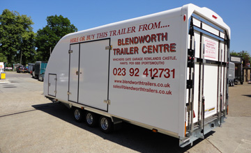 Trailers for hire Portsmouth Hampshire, fridge trailer hire, horse trailers for hire, Brenderup trailer specialists